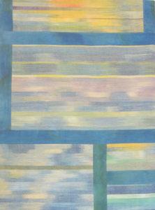 Makkai Márta textilművész Balatoni képeslap című ikat munkája.