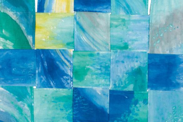 Részlet Makkai Márta textilművész Balatonimádók zászlója című munkájából.