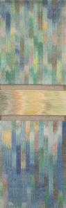 Márta textilművész Belső fény 2. ikat munkája.