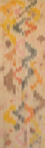 Márta textilművész Fonat című ikat munkája.