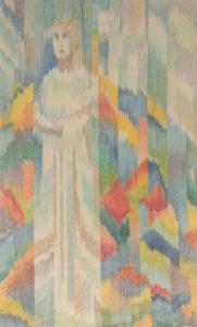 Makkai Márta textilművész Gizella palástja című ikat munkája.