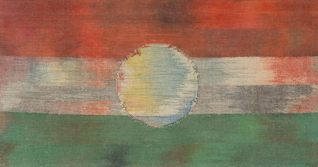 Makkai Márta textilművész Hajnal '56 című ikat munkája.