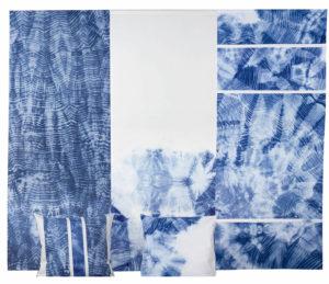 Makkai Márta textilművész Hullámok 1-2-3 című munkája.
