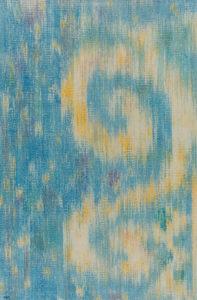 Márta textilművész Jel című ikat munkája.