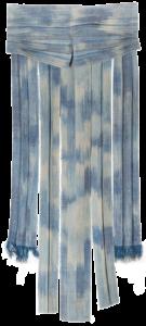 Márta textilművész Kék palást ikat munkája.