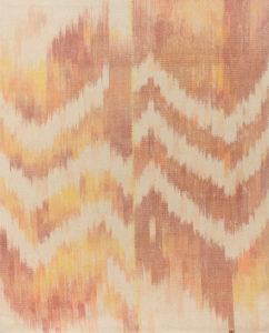 Makkai Márta textilművész Nap - Föld - Pára című ikat munkája.