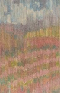 Makkai Márta textilművész Ősz című ikat munkája.