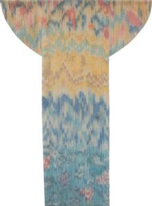 Makkai Márta textilművész Pannon forrás című ikat munkája.