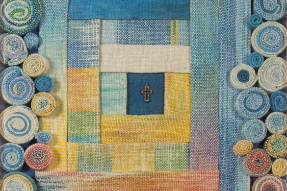 Részlet Makkai Márta textilművész Rózsák között című munkájából.