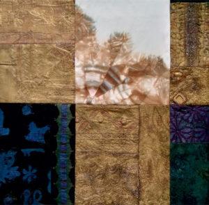 Márta textilművész Szárnyalva című munkája.
