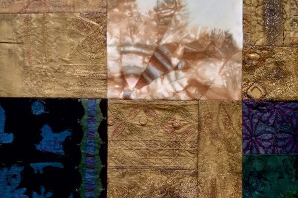 Részlet Makkai Márta textilművész Szárnyalva című munkájából.