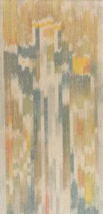 Makkai Márta textilművész Szent Margit című ikat munkája.