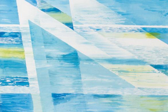 Részlet Makkai Márta textilművész Vitorlások 1. című munkájából.